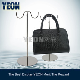 Wholesale YEON Stainless Steel Double Rack Bag Display Stand Women s Clutch Bag Hanger Bulk Order Available