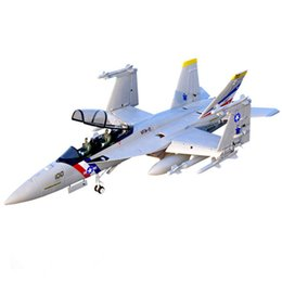 rc toy gliders Canada - 12CH 70mm edf rc plane F-18 high speed electric radio control airplanes large glider rtf led jet planes dropshipping