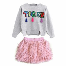 baby clothes factory 2018 - Baby Girls Dresses Pink Wool Plush Tassels Short Skirts Ins Kids Autumn Winter Solid Color Cotton Clothing Factory Free