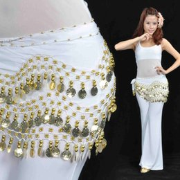 Ceintures De Danse Du Ventre Orange Pas Cher-NOUVEAU Beld Dance Hip Scarf Belt 158pcs Golden Coin 13 Couleurs