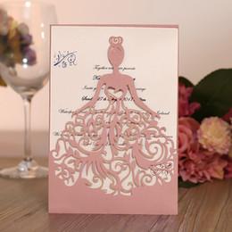 $enCountryForm.capitalKeyWord NZ - Multi Customized Color Wedding Invitation Cards with Envelope+Seal 50 set lot Laser Cut Birthday Party Invitations Printable