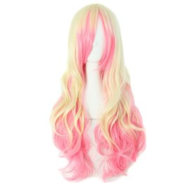 """Long Wave Costumes Hair UK - Long wave ombre 10 colors ladies synthetic hair cosplay wigs 70cm 28"""" women Costume Party High Temperature Fiber"""