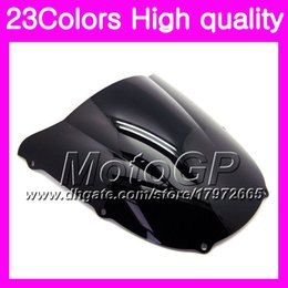 Zx6r Windscreen Australia - 23Colors Windscreen For KAWASAKI NINJA ZX6R 98 99 00 01 ZX 6R ZX 6 R 98 99 ZX-6R 1998 1999 Chrome Black GPear Smoke Windshield