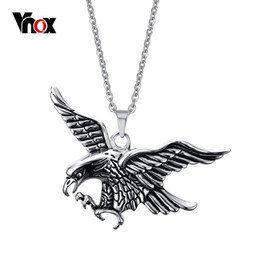 $enCountryForm.capitalKeyWord Canada - Super Cool Eagle Hawk Pendants & Necklaces for Men Punk Stainless Steel Pendant Mens Jewelry Free 20 inch Chain