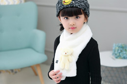 $enCountryForm.capitalKeyWord NZ - 2016 Children In The Spring And Autumn Winter New Small Rabbit Hair Cross Bear Scarf Unisex Imitation Rabbit Fur Collar