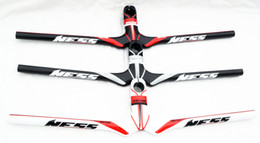Handlebar Integrated Canada - NESS Carbon fiber MTB Bike Integrated Handlebar stem 580 600 620 640 660*90 100 110 120mm cycling mountain bicycle parts handlebars