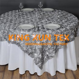 $enCountryForm.capitalKeyWord NZ - Nice Looking Satin Rosette Table Overlay \ Table Cloth For Wedding And Event Decoration Free To Door Shipping