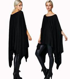 $enCountryForm.capitalKeyWord UK - New 2016 Womens T Shirts Sexy Oversized Asymmetric Tunic Poncho Cape Casual Top For Women Batwing Sleeve irregular Loose t-shirt