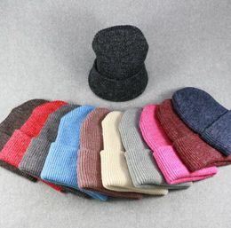 Berretti invernali cappello tinta unita unisex pianura caldo morbido  berretto teschio maglia cappelli cappelli lavorato a maglia touca gorro  berretti per ... 502bdce63277