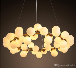 Discount lighting modo - 2016 new arrivals village style LED round glass pendant lights 25 45 heads loft light fixture modo led glass pendant lig