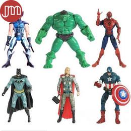 """Batman Figure Wholesale Canada - New 6 PCS The Avengers Captain America Wolverine Thor Spiderman Batman 6"""" Action Figures Toy Anime Juguetes"""