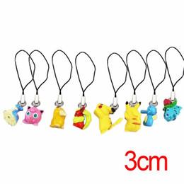 Chinese  80Pcs 10Set Pocket Monsters PVC Figure Toys Phone Strap Charm Pikachu Bulbasaur Flareon Horsea Jigglypuff Psyduck Lapras Figures Toy manufacturers