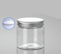 $enCountryForm.capitalKeyWord Canada - 200G empty PET cream bottle with Alu lid ,200 g clear cosmetic Packaging wholesale , big plastic cosmetic empty jars 200g