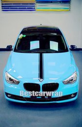 $enCountryForm.capitalKeyWord Canada - 3 Layers Gloss Baby Blue Vinyl wrap For Car Wrap with air Bubble Free Truck vehicle shiny wrap covering skin 1.52*20M Roll 4.98x66ft
