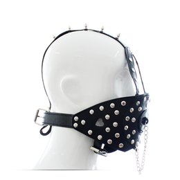 Slave Mouth Gag Mask Canada - Fetish Slave Solid Ball Gag Bondage Sm Bdsm Full Head Harness Slave Mask Mouth Gag Muzzle Bondage Unisex Sex Products Sexual Abuse Products