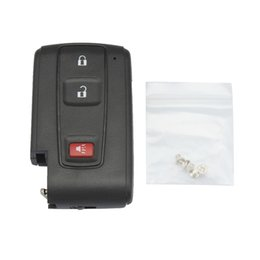 $enCountryForm.capitalKeyWord NZ - Black 3 Buttons Replacement Shell Remote Key Case Fob with Small Key for 2004-2009 Toyota Prius CIA_40W