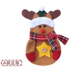 50pcs Lot Deer Design Kitchen Home Dinner Christmas Cutlery Suit Folks Knifes Bags Xmas Party Dining Table Decor
