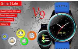 $enCountryForm.capitalKeyWord Australia - V9 Bluetooth Smart Watch With Camera Support TF SIM card 2G Pedometer Health Sport Clock Fitness Tracker Smartwatch For Android IOS