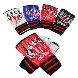 Mma Boxing Glove Canada - SUTEN Eagle Claw Gloves Upscale Sandbags Gloves Half Finger Gloves Unisex MMA Boxing Punching Glove SUTENG Fighting Glove 2501026