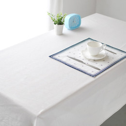 pure linen cloth 2019 - White linen table cloths,European style Pure white color cloth,Upscale cafe restaurant table cover towels