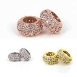 $enCountryForm.capitalKeyWord Australia - Large hole Shamballa Beads Mosaic micro setting zircon European big hole charm beads 3 size 3 colors to pick up DIY jewelry accessories