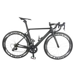 Complete Bicycle Bike Canada - 2018 new arrival full carbon bike T1000 UD completed bicycle UD matt glossy frame+wheels+handlebar+saddle+origina R8000 groupset full bike