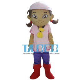 Eva Costumes Canada - Girl Pink Hair Plush Cartoon Character Mascot Costume Fancy Dress EVA