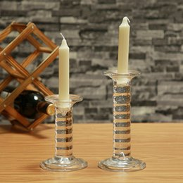 $enCountryForm.capitalKeyWord NZ - Stylish Set of 2 Cylinder Glass Candle Holders Set Special Design, Ideal For Weddings, Party Favor, Gifts