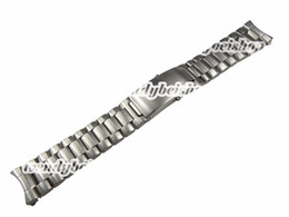 Band Belts UK - 22mm New Silver Stainless Steel Watch Band Strap Belt Bracelet Professional Double Push Deployment Glide Lock Clasp