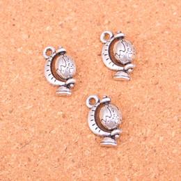 $enCountryForm.capitalKeyWord Canada - 63pcs Antique Silver Plated tellurian globe Charms Pendants for European Bracelet Jewelry Making DIY Handmade 17*12mm