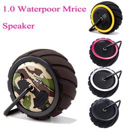 wireless center speaker 2019 - Sport Speakers Outdoor Bluetooth Wireless Speakers Campers 1.0 Waterpoor Mrice Speaker Portable Wireless Bluetooth TF Ca