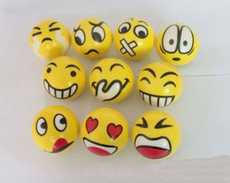 Discount stress relief gifts - 6.3cm Emoji Faces Squeeze Stress Ball Hand Wrist Finger Exercise Stress Relief Therapy - Assorted Styles New Christmas p