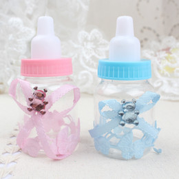 12pcs bottle candy box with bear sweets favors for wedding party baby shower baptism christening birthday gift plastic baby bottles favors deals