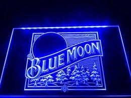 Lighted pub signs online shopping - LS353 b Blue Moon Beer Bar Pub Logo Neon Light Sign Decor Dropshipping colors to choose