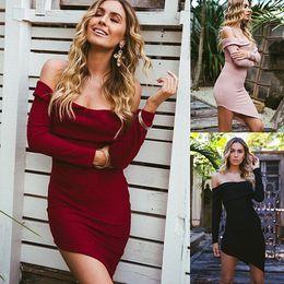 3bdb785ebd0 Winners dresses online shopping - 2017081827 Autumn winner sweater dress  slash neck irregular mini dress long