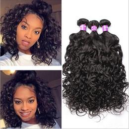 Ocean Wave Virgin Human Hair Weaves Canada - Cheap Indian Virgin Hair 3 Bundle Deals Water Wave Raw Indian Human Hair Extensions Ocean Wave Wet And Wavy Remy Hair Weaving Wefts