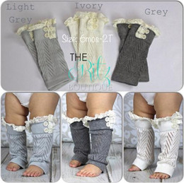 Wholesale New hot sell leg warmers baby hollow out lace Warm feet set of buttons Cotton short legs boot cuffs baby Socks