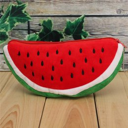 $enCountryForm.capitalKeyWord Canada - Wholesale-Red Practical Case Volume Watermelon Kids Pen Pencil Case Gift Cosmetics Purse Wallet Holder Pouch For Student Officer
