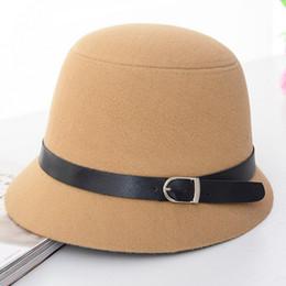 $enCountryForm.capitalKeyWord NZ - New Fashion Style Women Vintage Retro Wide Brim Wool Bowler Fedora Hat Floppy Cloche Big Brim Hat For Female