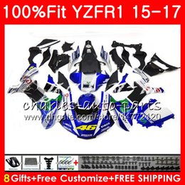 $enCountryForm.capitalKeyWord Australia - Injection Body For YAMAHA blue black YZF 1000 YZF-R1 15 17 YZF R1 2015 2016 2017 87NO35 YZF1000 YZF R 1 YZF-1000 YZFR1 15 16 17 Fairing kit