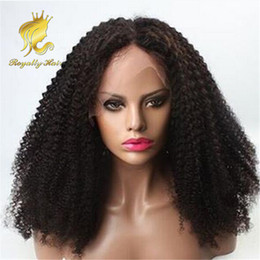 Deep Curly Indian Lace Wig Australia - Density 250% Brazilian Kinky Curly Front Lace Human Hair Wigs Unprocessed Hair Deep Curl Glueless Full Lace Wig With Baby Hair