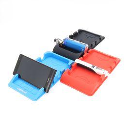$enCountryForm.capitalKeyWord Australia - Wholesale- 2PCS Electronic cigarette vapesoon car center console silicone mat for e cig ego aio cell phone black blue red color