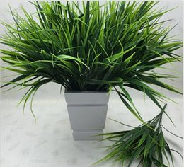 Wholesale 2016 New fork Green Grass Artificial Plants For Plastic Flowers Household Store Dest Rustic Decoration Clover Plant HJIA1016