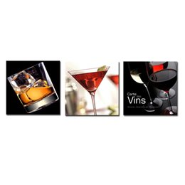 Wine And Cups 3 Panels Abstract Canvas Prints Artwork Picture Paintings On Canvas  Wall Art For Home Home Decorations