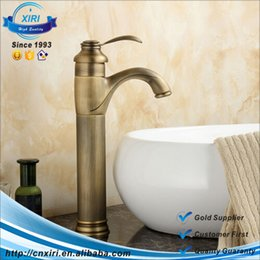 Sinks Product Canada - Brass antique hot and cold water taps,deck mounted bathroom basin sink faucet tap,washbasin taps,bathroom product FG048