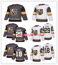 $enCountryForm.capitalKeyWord Canada - 2017-18 New Style Vegas Golden Knights 18 James Neal 29 Marc-Andre Fleury white Grey Blank Ice Hockey Jerseys