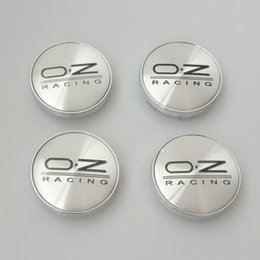 Vw Car Emblems Canada - 20pcs lot 60mm silver OZ O.Z Racing Wheel Center Hub Caps Car Emblem Badge Logo 60mm Wheel Center Caps For VW GOLF POLO CIVIC CRUZE