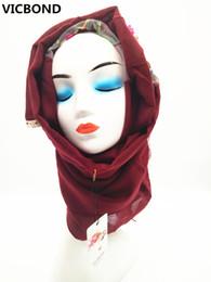 White Pashmina Cotton Canada - VICBOND Hot sale optional colour hollow flower lace cotton scarf shawl pashmina women Muslim hijab fashion soft 10pcs lot