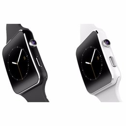 Branded Cameras Canada - New brand bluetooth x 6 smart watch for apple for samsung sim with camera support tf card 1.54 inch touch screen
