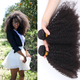 $enCountryForm.capitalKeyWord NZ - Malaysian Afro Kinky Curly Hair Natural Color Hair Bundles Unprocessed Malaysian Human Hair Afro Curly 3Pcs Lot 300Gram Free Shipping